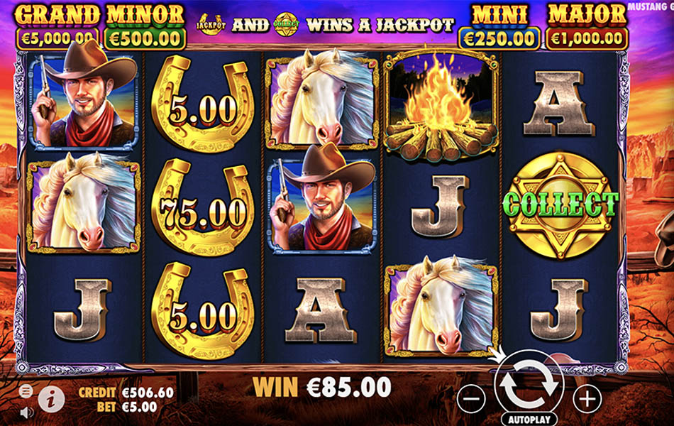 Mustang Gold Slot Money Collect Feature