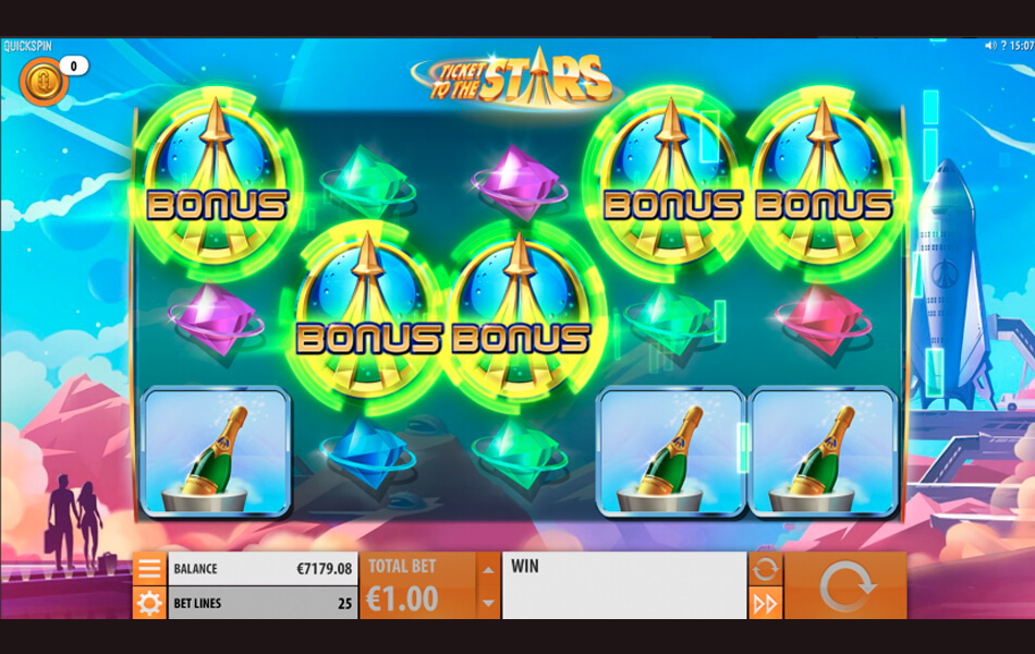 Ticket to the Stars Free Spins