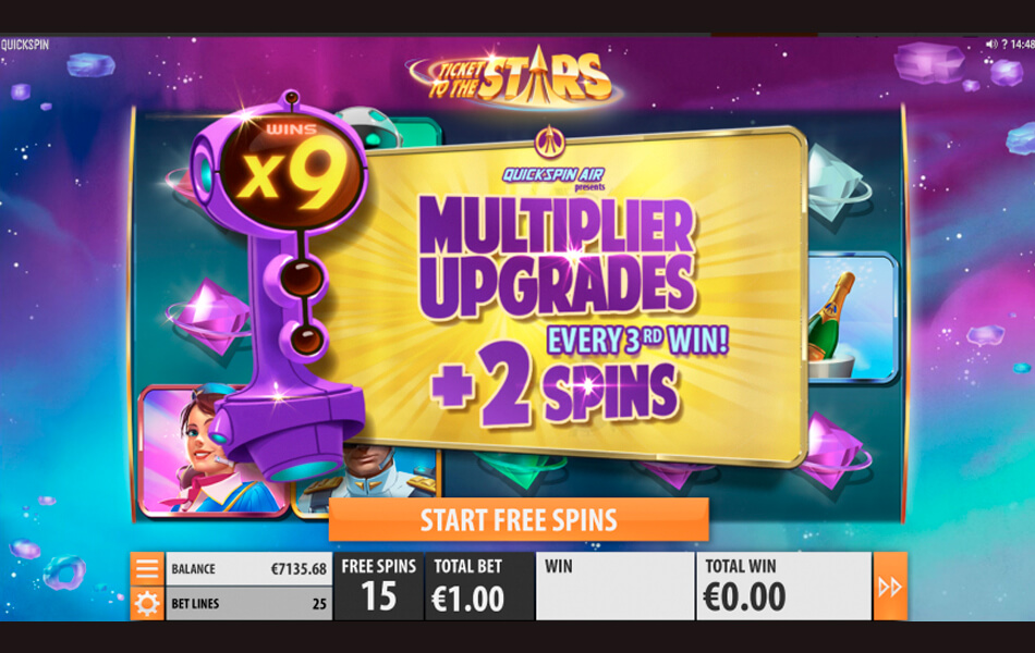 Ticket to the Stars Unlimited Multiplier Meter